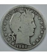 1902 P Barber circulated silver half  - $18.00