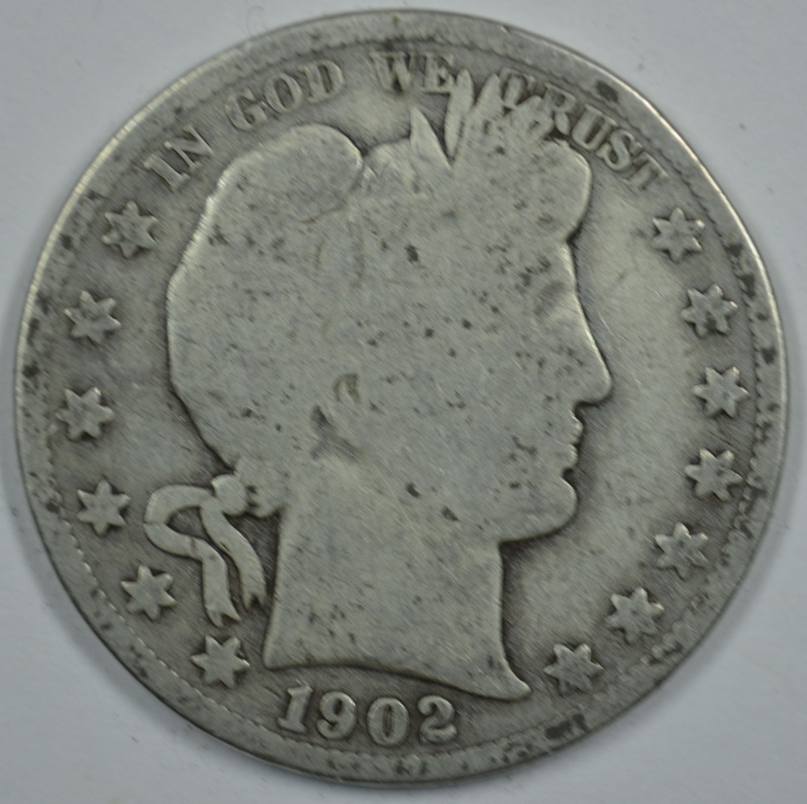Primary image for 1902 S Barber circulated silver half