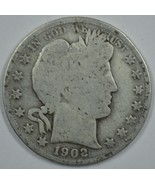 1902 S Barber circulated silver half  - $20.00