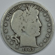 1903 O Barber circulated silver half  - $25.00