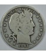 1903 O Barber circulated silver half  - $25.00