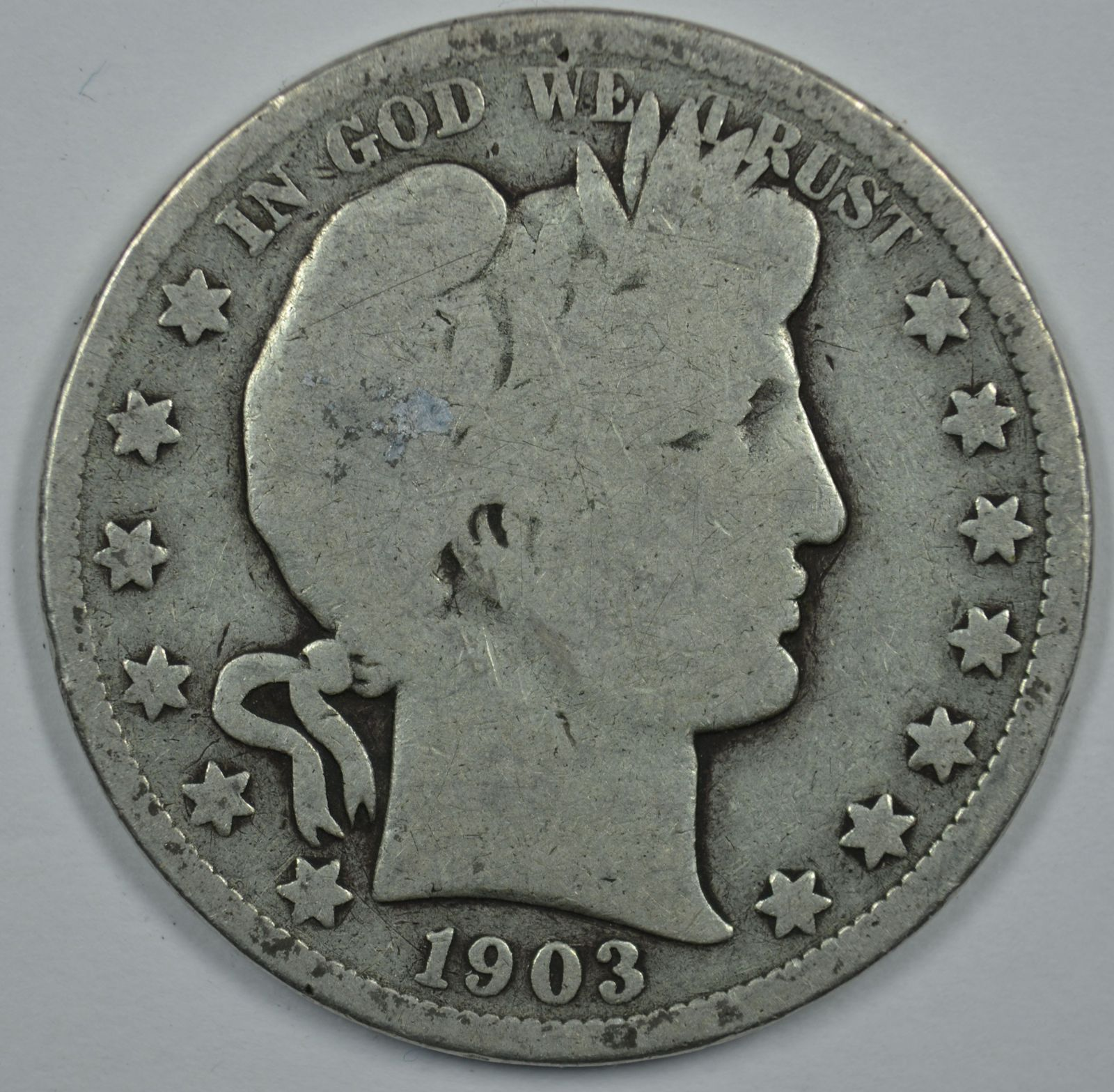 Primary image for 1903 P Barber circulated silver half