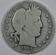 1903 P Barber circulated silver half  - $13.00