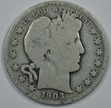 1903 P Barber circulated silver half  - $13.00