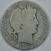 1903 S Barber circulated silver half  - $17.50