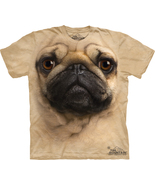 The Mountain Graphic Printed Tee Pug Face Adult T-shirt Size  - $21.25