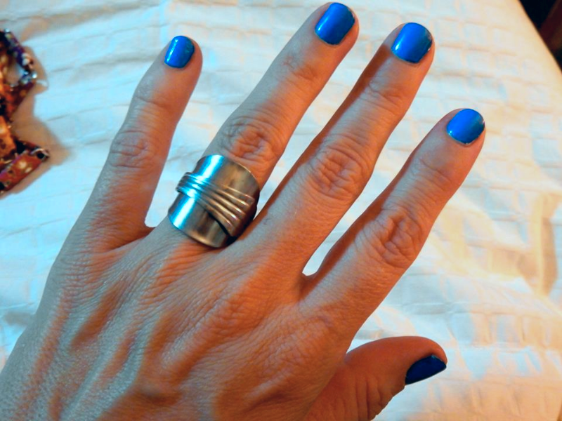 Hand Crafted Khmer Spoon Ring Jewelry - Size S