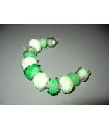 Set Mint Green Handmade Italian Glass Donut Beads - $30.00
