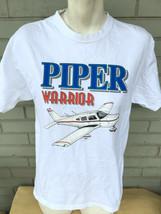 Piper Warrior Plane Aviation VTG Medium T-Shirt  - $17.43