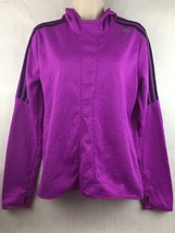 Adidas Running Purple Hoodie Climalite Response w/ Thumb Hooks Size M - $14.84