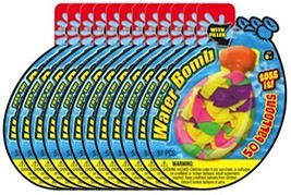 Ja-Ru Water Bomb with Filler 50 Count Party Favor  (12-Pack Bundle) - £14.78 GBP