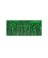 "Beistle Party Decoration 1-Ply FR Metallic Fringe Drape Green 15"" x 10' ... - $45.50"