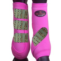 Medium Hilason Horse Medicine Sports Boots Rear Hind Leg U-TB-M - $64.30