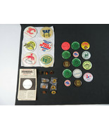 Vintage collection of RARE Canadian Pinback Buttons Lapel Pin Hockey NFL... - $49.00