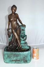 """Lady on Wall fountain Bronze Statue -  Size: 12""""L x 9""""W x 21""""H. - $785.00"""