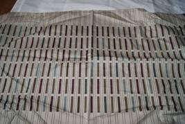 HOTEL COLLECTION 2 KING SHAM BEIGE Purple Wine Multicolor stripe - $47.50