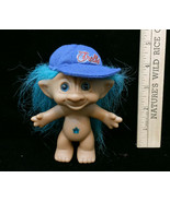 """Troll Doll Star Jewel Belly Button Blue Hair Ace Novelty Hat Cap Vintage 5"""" - $9.85"""