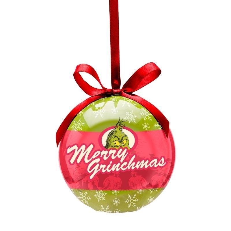 Vandor Dr. Seuss Grinchmas Decoupage LED Ornament 17192 Christmas