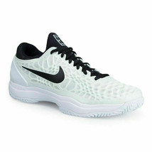 Nike Mens Air Zoom Cage 3 HC White Black Yellow 918193 101 Tennis Shoes ... - $109.95