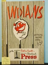 1951 Cleveland Indians Baseball Program v Detroit Tigers UNS. C7007 - $49.01