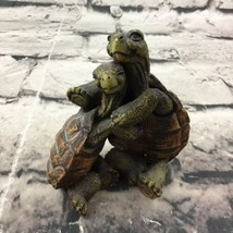 "Vintage Castagna Hugging Turtles Figurine 3.75"" Made In Italy Collectible - $11.88"
