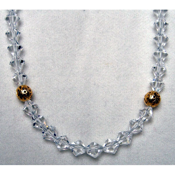 Crystal Bicone Necklace with Accent Beads