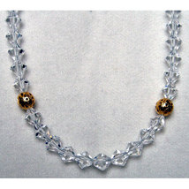 Crystal Bicone Necklace with Accent Beads image 1