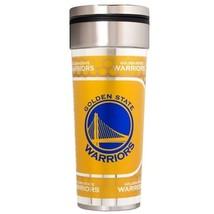 Golden State Warriors 22 oz Stainless Steel Travel Tumbler Metallic Grap... - $23.75