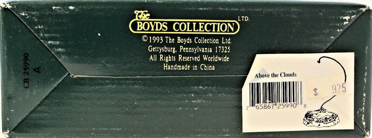 Boyd's Bearstone Collection Above The Clouds Ornament Stand Resin Star 1997