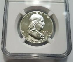 1957 Franklin Silver Half Dollar NGC PF 68 Star PR PL Deep Mirror Proof ... - $179.99