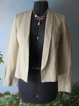 Vince Blazer Rustic Linen Women Beige Long Sleeve Blazer Suit Jacket Size 6 New  - $137.61