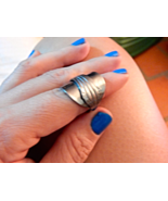 Hand Crafted Khmer Spoon Ring Jewelry - Size L  - $14.99