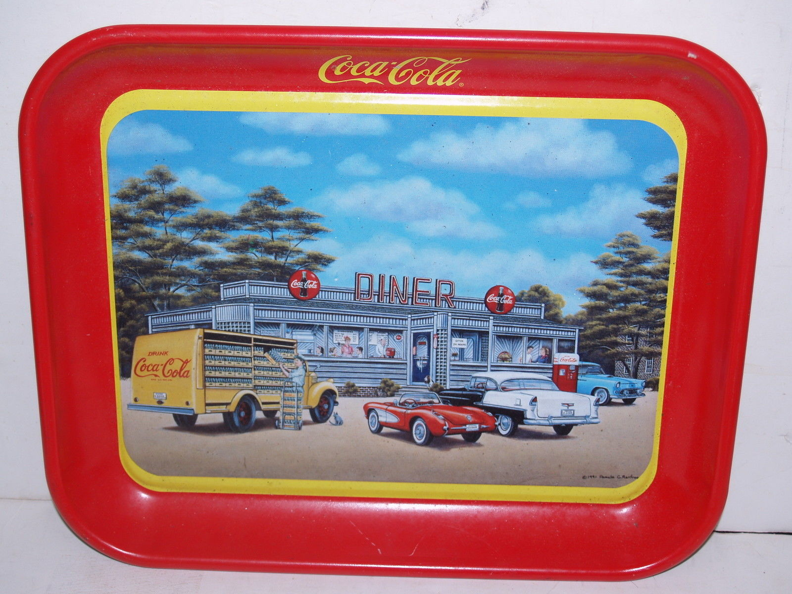 1994 Coca Cola Tray-Sign of good and 50 similar items