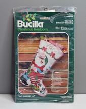 "Bucilla Christmas He's Making A List Jeweled Felt Stocking Kit Santa 18"" # 48974 - $19.80"