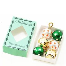 Dollhouse Ball Ornaments in Green Box Christmas Several Colors im65128 M... - $3.76