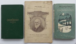 """Snow-Bound"" by John Greenleaf Whittier - 2 Books & Booklet (1867, 1900,... - $95.00"