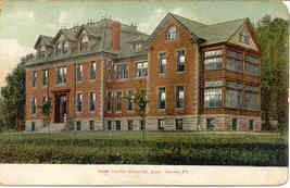 Hospital Lock Haven Pennsylvania vintage 1906 Post Card - $6.00