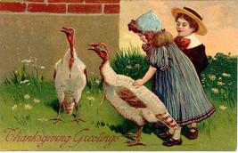 Thanksgiving Greetings Paul Finkenrath 1908  Post Card - $6.00