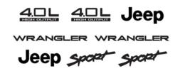 Jeep Wrangler Sport Refresh Vinyl Decal Set of YJ TJ 4.0L 4.0 L CJ TJ JK... - $18.99