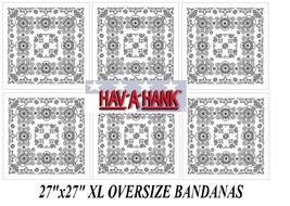 "6 Hav-A-Hank XL BIG OVER SIZE WHITE PAISLEY 27""BANDANA Head Wrap Face Ma... - $48.99"