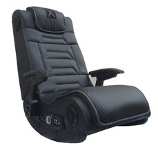 X Rocker Pro Wireless Audio Gaming Chair Black Gift Graduation Play TV F... - $223.43