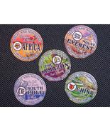 "Stuff and Nonsense 2"" Travel Stickers - Set of 5 - $1.25"