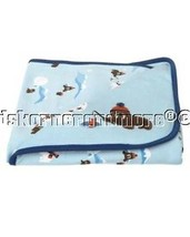 Gymboree Walrus Fella Baby Blanket Reversible B... - $15.79