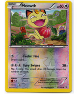 Meowth 67/108 Reverse Holo Common Roaring Skies Pokemon Card - $1.09