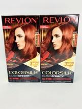2 -  Revlon Colorsilk Buttercream Vivid Hair Color 49RC Deep Copper Red NEW - $16.66