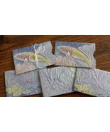 SET OF 5 FISH EMBOSSED DESIGN GIFT CARD HOLDERS WATERPROOF REUSABLE FATH... - $15.00