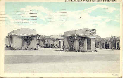 Primary image for Camp Bankhead Cottages, Cisco Texas 1932 Vintage Post Card