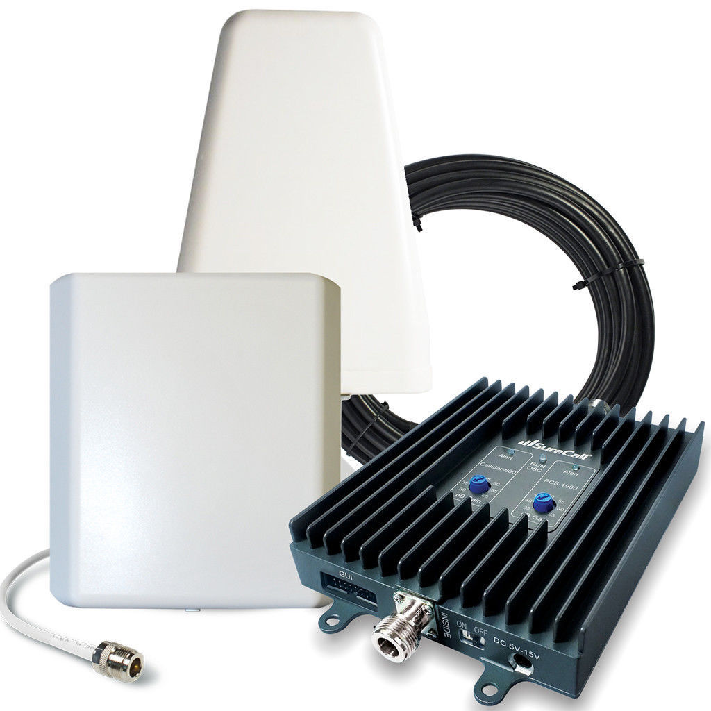 SureCall FlexPro 3G Home Cell Phone Signal Booster w/ Yagi & Panel Antennas