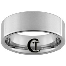 8mm Tungsten Carbide Pipe Band Ring Satin Finish Sizes 4-17 - $29.00