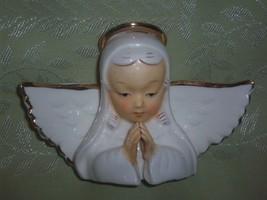 Midcentury Vintage White Ceramic Angel Bust Fig... - $14.00
